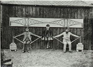 Human Model of Cantilever Bridge