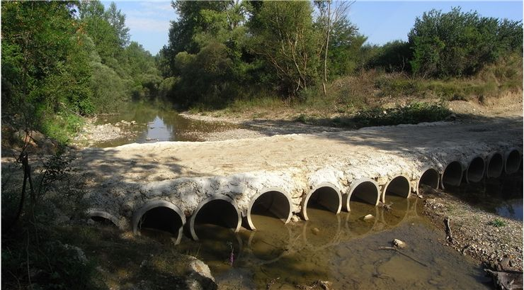 Culvert On River