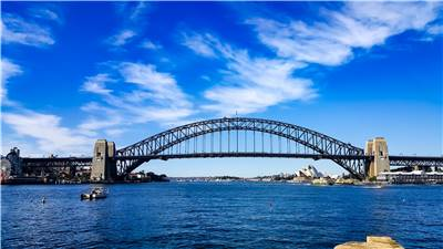 Famous Sydney Harbor Bridge
