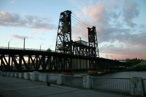 Steel Bridge in Portland - Moveable Bridge